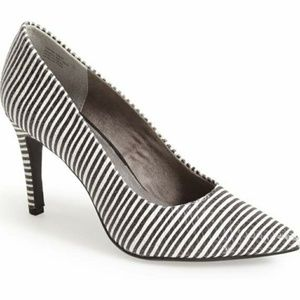 Seychelles 'Frequency' Stripe Leather Pointy Toe P